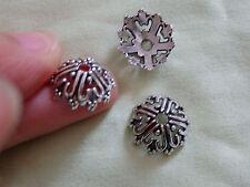 10 grandes perles caps tibétain Tibet Argent Antique Vintage Tone Wholesale UK BC7