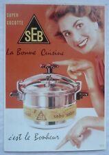 CPM REPRODUCTION AFFICHE ANCIENNE / SUPER COCOTTE SEB / 1954 / 2