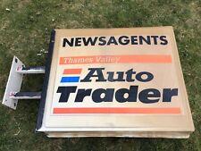 Vintage Thames Valley Auto Trader Newsagents Shop Sign Rare Man Cave