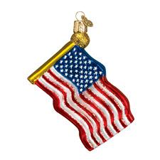 Old World Christmas STAR SPANGLED BANNER (36025)X Patriotic Glass Ornament w/Box