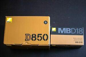 Nikon D850 DSLR Camera Body, MB-D18 Battery Grip, 2 Batteries, Sony128G XQD Card