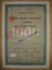 Berliner Handels - Gesellschaft  1899  Berlin    ING  BHF Bank