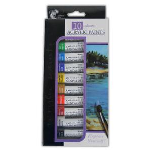 Acrylic colour Art Paint 10 Tubes Set - 12ml