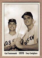 Carl Yastrzemski & Tony Conigliaro '70, Monarch Corona Immortals #6, nm-mint