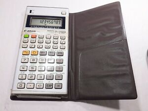 RARE Vintage 1982 Canon F-73P Programmable Scientific Statistical Calculator