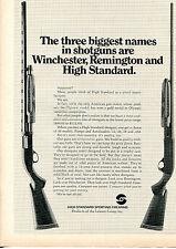 1971 Print Ad of High Standard Shotguns three biggest names Winchester Remington