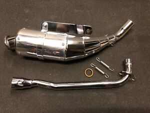 HONDA MONKEY BIKE  CF50 CF70 CHALY UP SWEPT AFTERMARKET EXHAUST COMPLETE  NEW