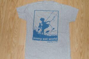 JIMMY EAT WORLD band t-shirt 2009 MEDIUM pop punk indie rock emo Slightly Used