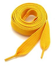 "(2 Pairs) FLAT WIDE SHOELACES THICK SHOE LACES 52"" LONG SALE NEW"