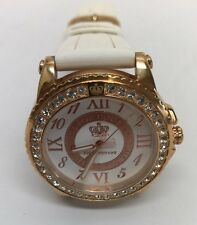 Pre-Owned Juicy Couture Women's Rose Gold Tone Crystal Watch-No Box-WORKS
