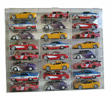 Display Case Wall Cabinet Acrylic for 1:24 Scale Diecast Nascar Cars Hot Wheels