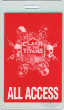 Slayer Clash/Titans 1991 Laminated Backstage Pass Alice in Chains Megadeth