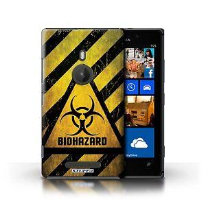 STUFF4 Case/Cover for Nokia Lumia 925/Hazard Warning Signs/Biohazard