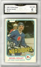 1981-82 O-Pee-Chee #275 Michel Goulet | Graded EX/NM | Quebec nordiques
