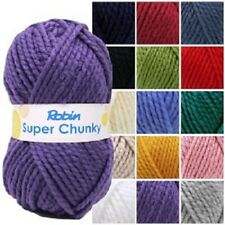ROBIN SUPER CHUNKY WOOL/YARN 100G - FULL RANGE OF COLOURS