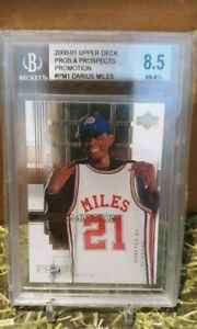 DARIUS MILES 2000-01 UPPER DECK PROS AND PROSPECTS PROMOTION   BGS 8.5