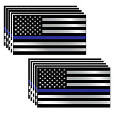 10xFashion Police Officer Thin Blue Line American Flag Decal Stickers Graphic·