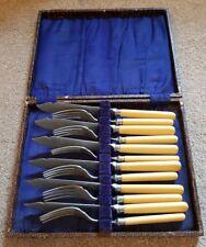 Vintage mostainless cobra peces comedores Cubiertos Conjunto de cubiertos de -6 xforks/6 xknife-en Caja
