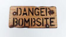 Danger Bombsite Wooden Wall/ Door Plaque/ Sign for Children's/ Kids Room