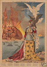 Russian Empire Propaganda Poster 1904 11x8 Inch Poster Reprint