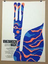 PLAKAT FASCHINGMÜNCHEN 1969 VENEZIANISCHE NACHT HAUS DER KUNST