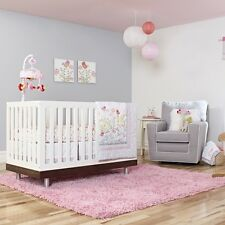 Just Born Botanica Collection 3-Piece Crib Bedding Set Songbird Butterfly Flower
