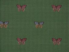 Colorful Butterflies GRASS GREEN Home Decor Upholstery Cushion Drapery Fabric
