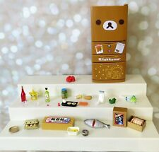 Re-Ment Rilakkuma Refrigerator and Accessories Dollhouse Plenty of Fridge