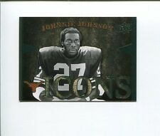 Johnnie Johnson 2011 Upper Deck University Of Texas Longhorns ICONS Card