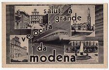 CARTOLINA 1943 SALUTI A GRANDE VELOCITA' DA MODENA RIF. 10343