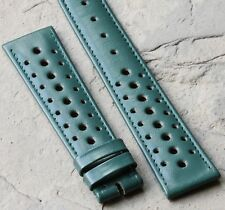 Racing green vintage 19mm perforated band NOS for vintage old chronograph watch
