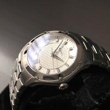 Reloj de mujer de diseñador Ebel Clásico Deporte Fecha de acero suizo 1216015 Genuino en Caja