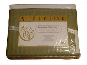 SUPERIOR Full / Queen Size Duvet Cover Set 400 Thread Count 100% Egyptian Cotton