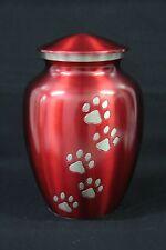 Crimson Paw Printed Pet Urn