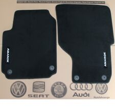 VW Amarok LHD Textile Floor Foot Mats Set Front 2H1061275 Genuine New