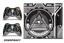 Skin Decal Wrap for Xbox 360 E Gaming Console & Controller Sticker Design CON W