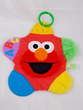 "Elmo Teether Rattle Clip On Lovey Plush 11"" Stuffed Animal"