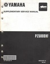 2001 YAMAHA SNOWMOBILE PHAZER  PZ500DXF  SUPPLEMENT SERVICE MANUAL (411)