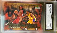 2003 Upper Deck Collectibles Lebron James rookie Kobe Bryant Gem Mint 10