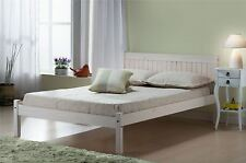 Birlea Rio White Corona Mexican Solid Wood 120cm 4FT Small Double bed Frame