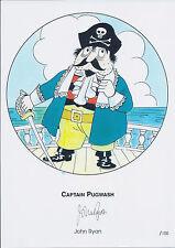 John RYAN Captain PUGWASH Signed Ltd Edition Print AFTAL COA Autograph Genuine