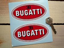 "BUGATTI Classic Car Stickers 5"" Pair EB110 Type 27 35 Royale EB Race Racing"