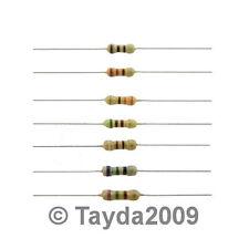 50 x Resistors 4M7 4.7M Ohms OHM 1/4W 5% Carbon Film