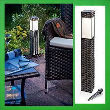 4x LED Solarleuchte Solar Außenleuchte Gartenlampe Rattan Gartenleuchte Leuchte