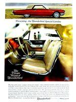 "1965 Ford Thunderbird Special Landau Original Print Ad 8.5 x 11"" EX"