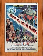 "TIN SIGN ""Invaders From Mars"" Vintage Movie Art Poster"