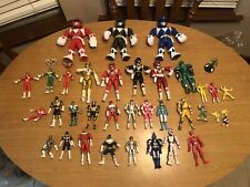 VINTAGE 90s current 36 MIGHTY MORPHIN POWER RANGERS LOT BANDAI FIGURES Flip Head