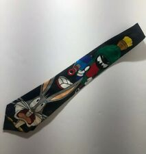 Vintage Looney Tunes Mania Tie Bugs Bunny Marvin The Martian Shooting Bugs