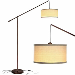 Brightech Hudson 2 Contemporary Hanging Arc Floor Lamp with LED Bulb, Bronze