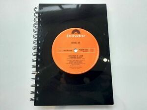 Level 42, Lessons in love, Vinyl Record A5 Notebook gift